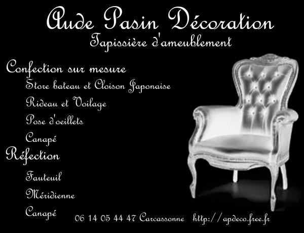 Aude Pasin Decoration Tapisserie D Ameublement A Carcassonne
